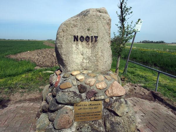 Der Nooit-Findling im Arler Hammrich, Foto (C): Manfred Knake