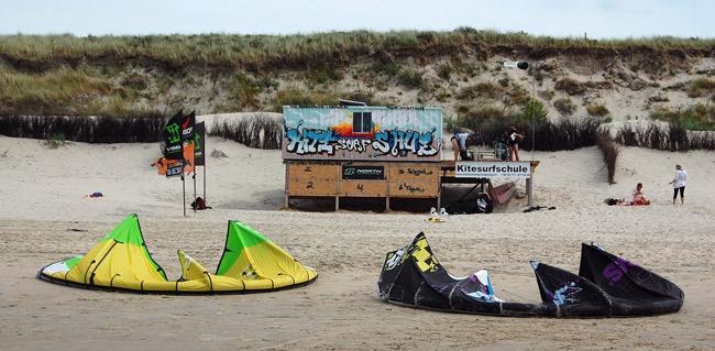 Kitesurferschule auf Langeoog, Foto (C): Eilert Voß (2010)