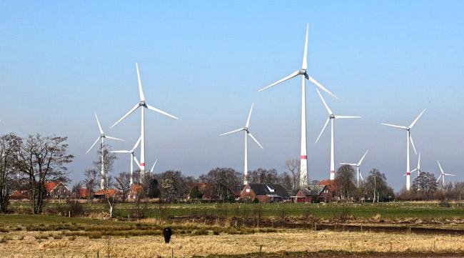 Windpark Westerholt, Blick auf Utarp/LK Wittmund, Foto (C): Manfred Knake