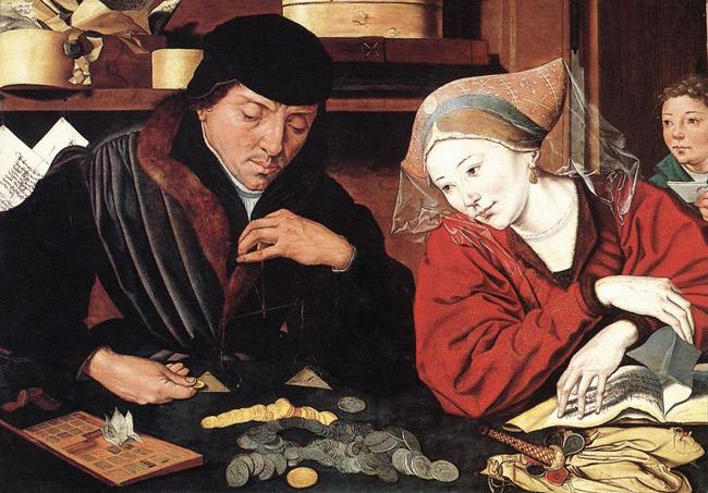 Marinus van Reymerswaele: Der Geldwechsler und seine Frau