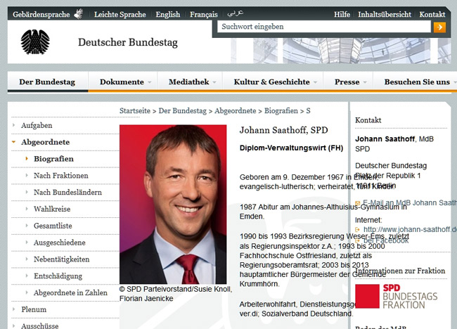 Screenshot (Bildzitat), Deutscher Bundestag, Johann Saathoff (SPD)