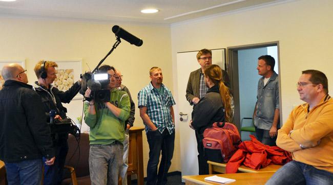 """Die KAmera war dabei: Fernsehteam dreht für """"Panorama 3"""", Foto (C): BI-eOstfriesland"""