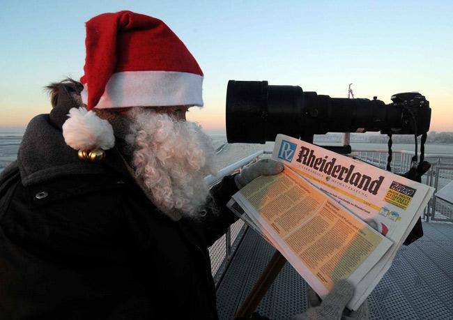 Der Nikolaus in Petkum an der Ems, Foto: privat