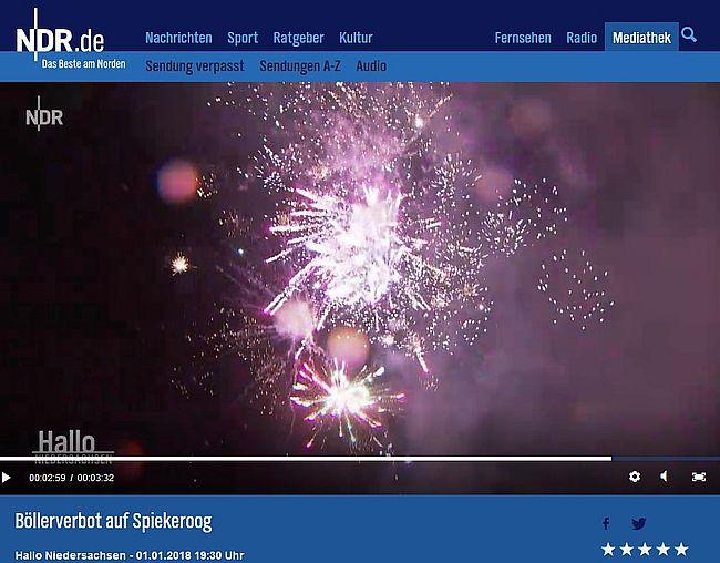 2018 01 03 173020 Böllerverbot Auf Spiekeroog Ndrde Fernsehen